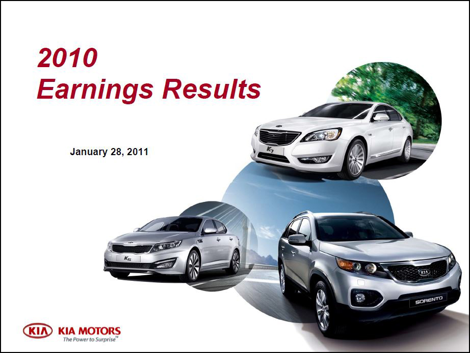 2011 Earnings Report