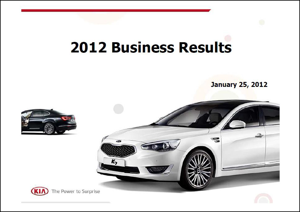 2012 Full Year Earnings Report